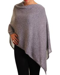Black.co.uk - Warm Grey Knitted Cashmere Poncho - Lyst