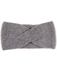 Black.co.uk - Grey Cashmere Headband - Lyst