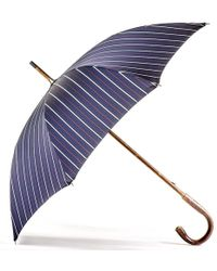 Black.co.uk - Navy Red And White Stripe Luxury Umbrella - Lyst