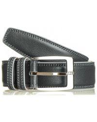Black.co.uk - Smokey Grey Italian Leather Belt - Lyst