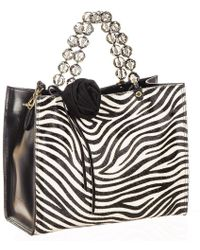 Black.co.uk   Leopard Print Calf Hair And Black Leather Tote   Lyst