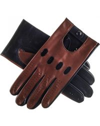 Black.co.uk - Brown And Black Leather Driving Gloves - Lyst