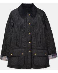 Barbour - Women Beadnell Polarquilt Jacket_black - Lyst