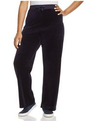 Juicy Couture - Juicy Couture Black Label Original Flare Velour Trousers - Lyst