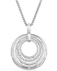 David Yurman | Stax Medium Pendant Necklace With Diamonds | Lyst