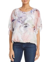 Vince Camuto - Diffused Blooms Batwing Top - Lyst