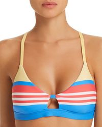 Ralph Lauren - Polo Engineered Stripe Racer Bra Bikini Top - Lyst