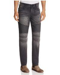 True Religion - Geno Moto Dark Rebel Race Straight Fit Jeans In Washed Black - Lyst