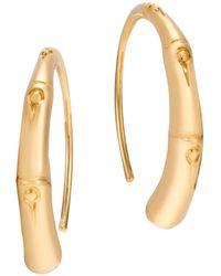 John Hardy - 18k Yellow Gold Bamboo Small Sweep Earrings - Lyst