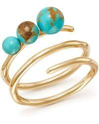 Ippolita - 18k Yellow Gold Nova Turquoise Spiral Ring - Lyst