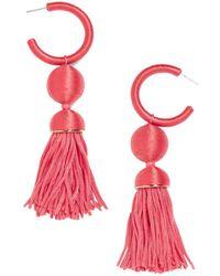 BaubleBar - Sameria Hoop & Tassel Drop Earrings - Lyst