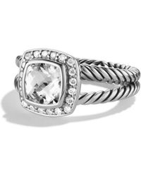 David Yurman - Petite Albion Ring With White Topaz & Diamonds - Lyst