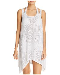 J Valdi - Sea Burnout Double Strap Dress Swim Cover-up - Lyst