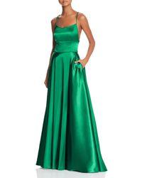Aqua - Satin Cross - Back Gown - Lyst