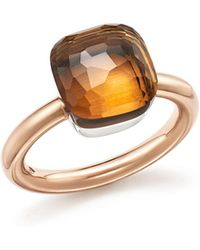 Pomellato - Nudo Classic Ring With Madeira Quartz In 18k Rose And White Gold - Lyst