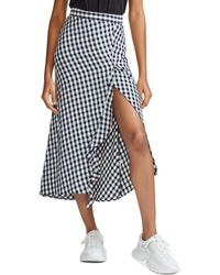 b5df274bb0 Maje Metallic Pleated Cotton-mesh Midi Skirt in Pink - Lyst