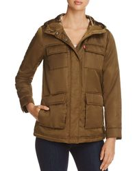Levi's - Faux Fur Lined Four-pocket Puffer Coat - Lyst