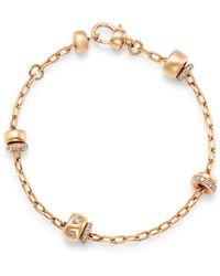 Pomellato - 18k Rose Gold Iconica Diamond Station Chain Bracelet - Lyst