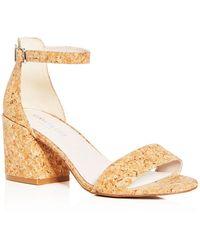 Kenneth Cole - Women's Hannon Glitter Cork Ankle Strap Block Heel Sandals - Lyst