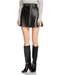 Maje - Jouki Leather Mini Skirt - Lyst