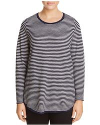 Eileen Fisher - Ribbed Stripe Top - Lyst