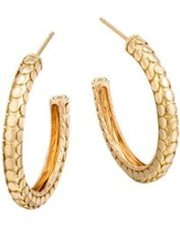 John Hardy | 18k Yellow Gold Dot Small Hoop Earrings | Lyst