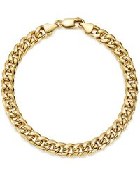 Bloomingdale's - Men's Classic Chain Bracelet In 14k Yellow Gold - Lyst