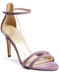 fe80d050f5ad76 Karen Millen - Women s Suede High-heel Sandals - Lyst