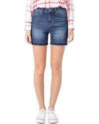 Liverpool Jeans Company - Vickie Released - Hem Denim Shorts In Ridgecrest - Lyst
