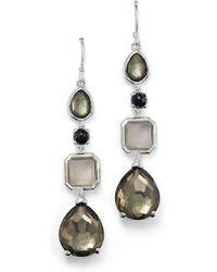 Ippolita - Sterling Silver Rock Candy® 4 Stone Linear Earrings In Black Tie - Lyst