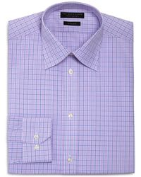 Bloomingdale's - Overcheck Regular Fit Dress Shirt - Lyst