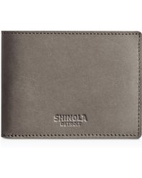 Shinola - Outrigger Leather Slim Wallet - Lyst