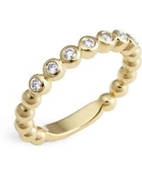 Lagos - 18k Gold Beaded And Diamond Ring - Lyst
