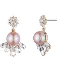 Carolee - Cultured Freshwater Pearl Cluster Drop Earrings - Lyst