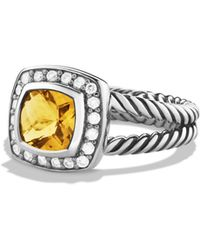 David Yurman | Petite Albion Ring With Citrine & Diamonds | Lyst