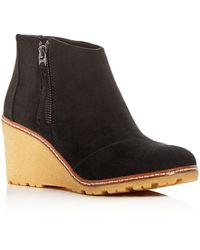 TOMS - Women's Avery Wedge Booties - Lyst