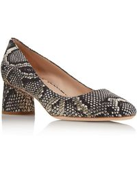57edbd88460 Lyst - Kate Spade Almond Toe Platform Pumps - Nessie High Heel in Black
