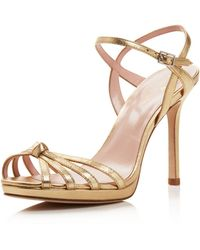 Kate Spade - Women's Florence Leather High Heel Ankle Strap Sandals - Lyst