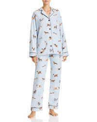 Pj Salvage - Doggone Tired Dog Print Flannel Cotton Pyjama Set - Lyst