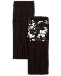 Aqua - Sequined Fingerless Gloves - Lyst