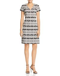 Adrianna Papell - Lace Jacquard Dress - Lyst