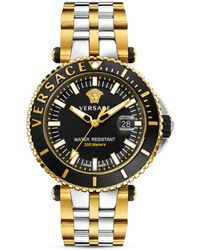 Versace - Two-tone V-race Diver Watch, 46mm - Lyst