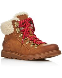 Sorel - Women's Ainsley Round Toe Leather Hiking Boots - Lyst