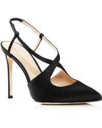 8cf8529d68a Pour La Victoire - Women s Cerry Pointed Toe Satin Slingback High-heel  Court Shoes -