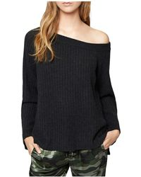 Sanctuary - Aurelia One-shoulder Rib-knit Jumper - Lyst