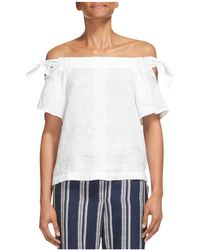 Whistles - Lila Off-the-shoulder Top - Lyst
