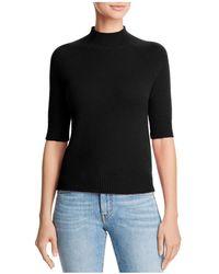 Aqua - Mock-neck Cashmere Sweater - Lyst