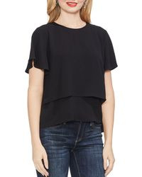 Vince Camuto - Tiered Crepe Blouse - Lyst