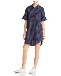 Scotch & Soda - Ruffle-sleeve Shirt Dress - Lyst