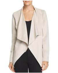 Aqua - Draped Faux Suede Jacket - Lyst